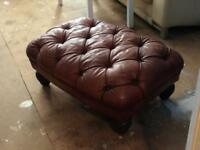 Original leather footstool