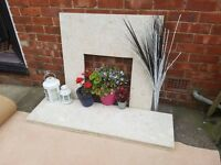 Marble fire surround and hearth £40