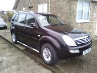 2007 07 Ssangyong Reston Rx270 s estate turbo diesel 4x4 can 1 previous owner mot till June maroon