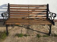 Solid cast iron bench heavy real heavy