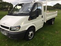FORD TRANSIT TIPPER EXCELLENT CONDITION *LOW MILES* FULL YEARS MOT! HARDLY USED! 6 GOOD TYRES!!