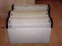 Electric Heaters x 3 - 2KW max with 3 Power Levels