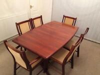 Rosewood Dining Room Table & 6 Chairs