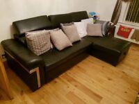 leather corner sofa and sofa bed