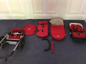 Bugaboo Frog Red 2in1 Pram Buggy