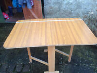 Gateleg Dropleaf Table 1960's Vintage/Retro - GOOD CONDITION - collect from KENDAL
