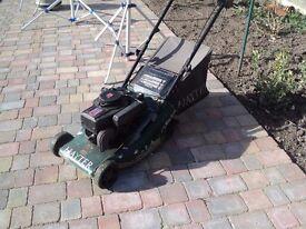 petrol lawn mower hayter 41 roller briggs and straton engine