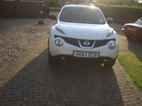 nissan juke N-tec satnav,rear camera, immaculate condition, new tyres,