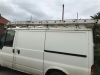 Ford transit Roof rack, full roof rack with ladder roller.