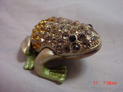Kubla  Box   BEJEWELED Trinket Box  Small  Frog   Jeweled Box ()