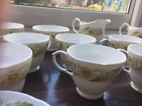Set of 7 duchess fine bone China set including sugar bowls and milk jugs