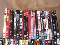 42 DVD FILMS AND COMEDY SHOWS MOSTLY 18 CERTIFICATE JOB LOT BOOTSALE MARKET TRADER