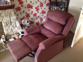 Reclining armchair, reclines backwards and forward, £100