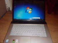 toshiba dual core 1.46 2gb ram 80gb hardrive wifi dvd-writer windows 7