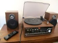 Steepletone Broadway Wooden Bluetooth Vynil Player & Music Centre Record (CD/LP/MP3) - ORIGINAL BOX