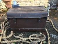 METAL INDUSTRIAL TRUNK CHEST FREE DELIVERY STORAGE BOX COFFEE TABLE