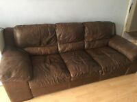 Italian leather 2&3 seater sofas - open to offers!!