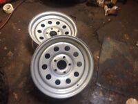 Modular steel wheels for a Landrover discovery 2