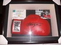 Joe Frazier signed boxing glove