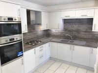 Ex display 13 unit kitchen with appliances and sink and tap, Matt grey slab with worktops etc