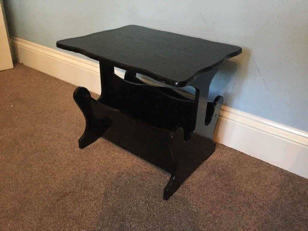 Black Magazine Rack / Coffee Table H16in/41cm W18.5in/47cm D15in/38cm