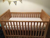 East Coast Oak cot bed