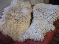 *** x2 Genuine Sheepkin Rugs ***