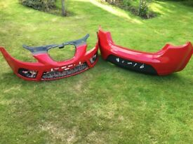 05-12 Mark 2 Leon FR Bumpers Red