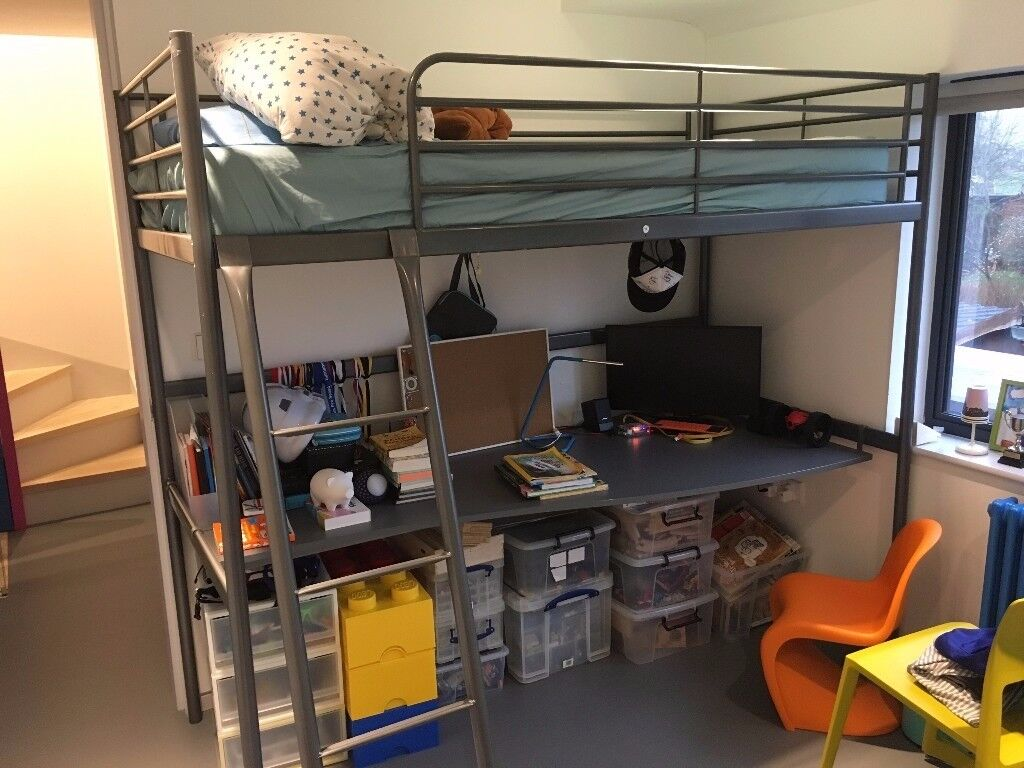 Ikea Loft Bed Frame With Desk Top In St Albans Hertfordshire