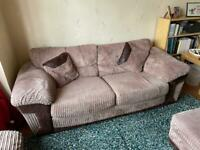 DFS Suite - Armchair, 3-seater Sofa and Footstool.