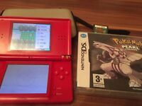 Nintendo DS Lite with Pokemon Pearl cib & Animal Crossing Wild Woods