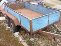"4"" x 8"" braked double axle trailer for sale"