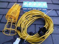 FESTOON LIGHTING 25meters,10 Lamps,New, Ideal for Garden or Building Site