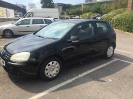 VW Golf Black MOT low mileage £1500