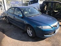 BREAKING FOR SPARES MAZDA 6 - 5 SPEED AUTOMATIC 2.0L PETROL LF-VE 70000 MILES 2002-2007 BLUE