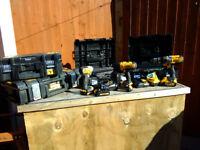 Dewalt Drills/Driver & Tool Box. 18v Combi + Driver 18v Combi Pro.