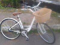 Vintage road bike with basket