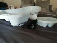 Baby bath, top and tail bowl and tommee tippee bottle warmer
