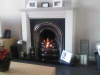 Cast Iron Arch Inset with custom fit Gas Fire - Fireplace