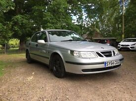 Saab 9-5 2.0t Linear 5dr Auto. Long MOT Low mileage Leather interior excellent family car £950 ono