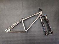 Global brand Titanium mountain bike frame + FOX 36 fork + FSA headset + Seat Clamp