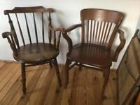 English Ash Chair and French Oak Chair