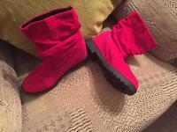 Ankle boots size 3 pink