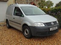 VW Caddy 2.0 SDi with roof bars and ply-lined
