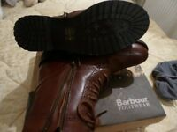 LADIES BARBOUR BOOTS - NEW CONDITION, WORN ONCE ONLY SIZE 4