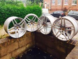 """Set of 4wheels 18"""" genuine wheels porsche pcd 5x112"""