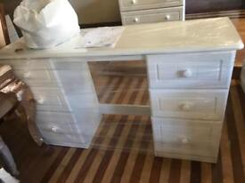 White double sided dressing tables