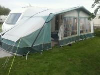 Caravan awning annexe with inner bedroom tent