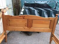 SOLID PINE 5FT DOUBLE BED FRAME