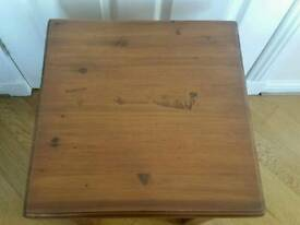 Solid Real Wood Side End Table